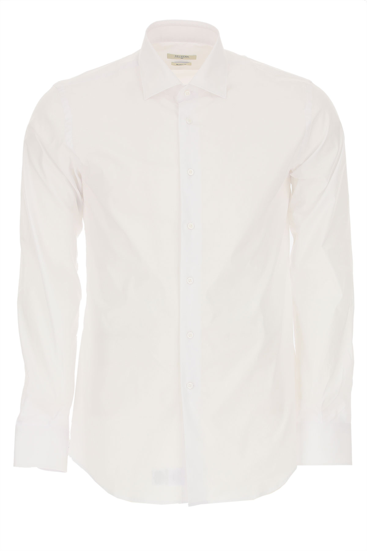 Del Siena Shirt for Men On Sale, White, Cotton, 2019, 15.75 16 17 17.5