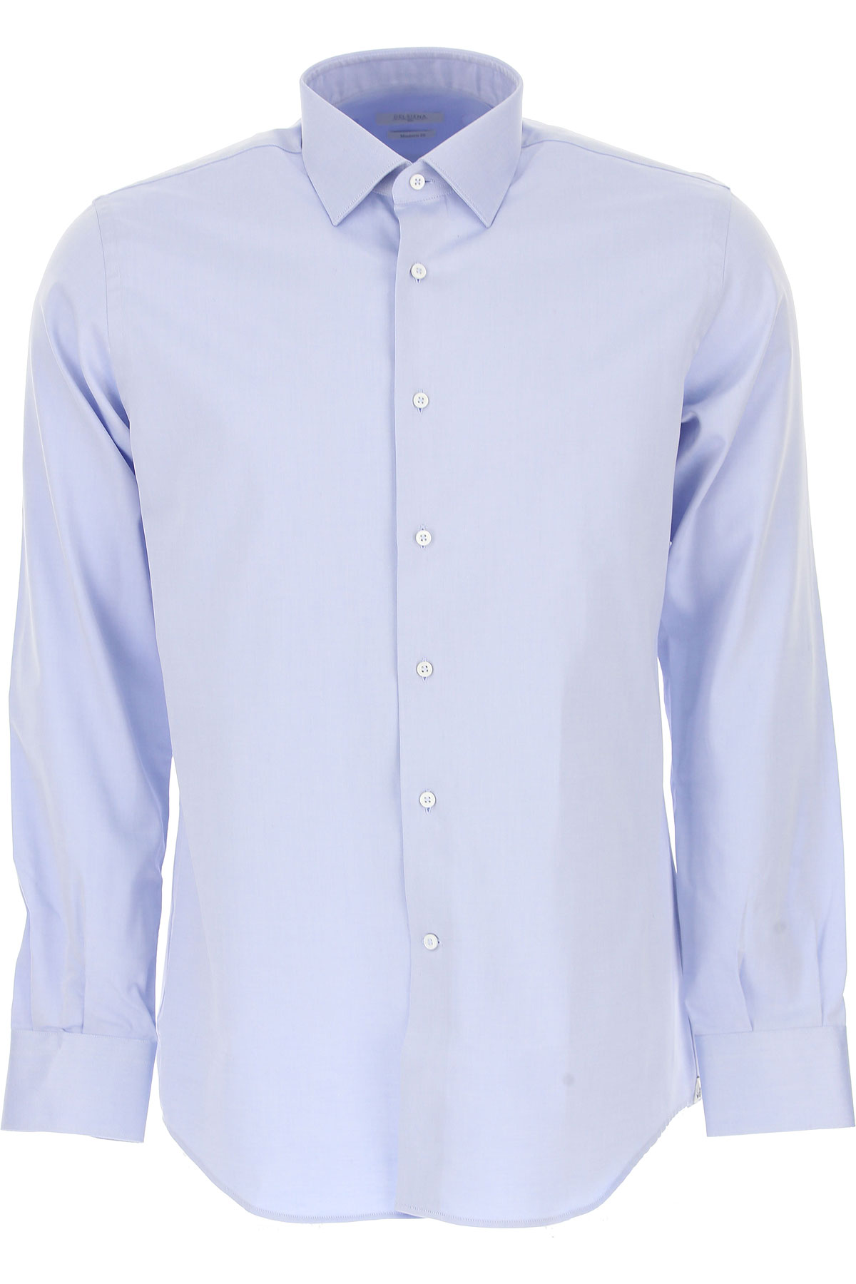 Image of Del Siena Shirt for Men, Azure, Cotton, 2017, 15.5 15.75 16 16.5 17 17.5