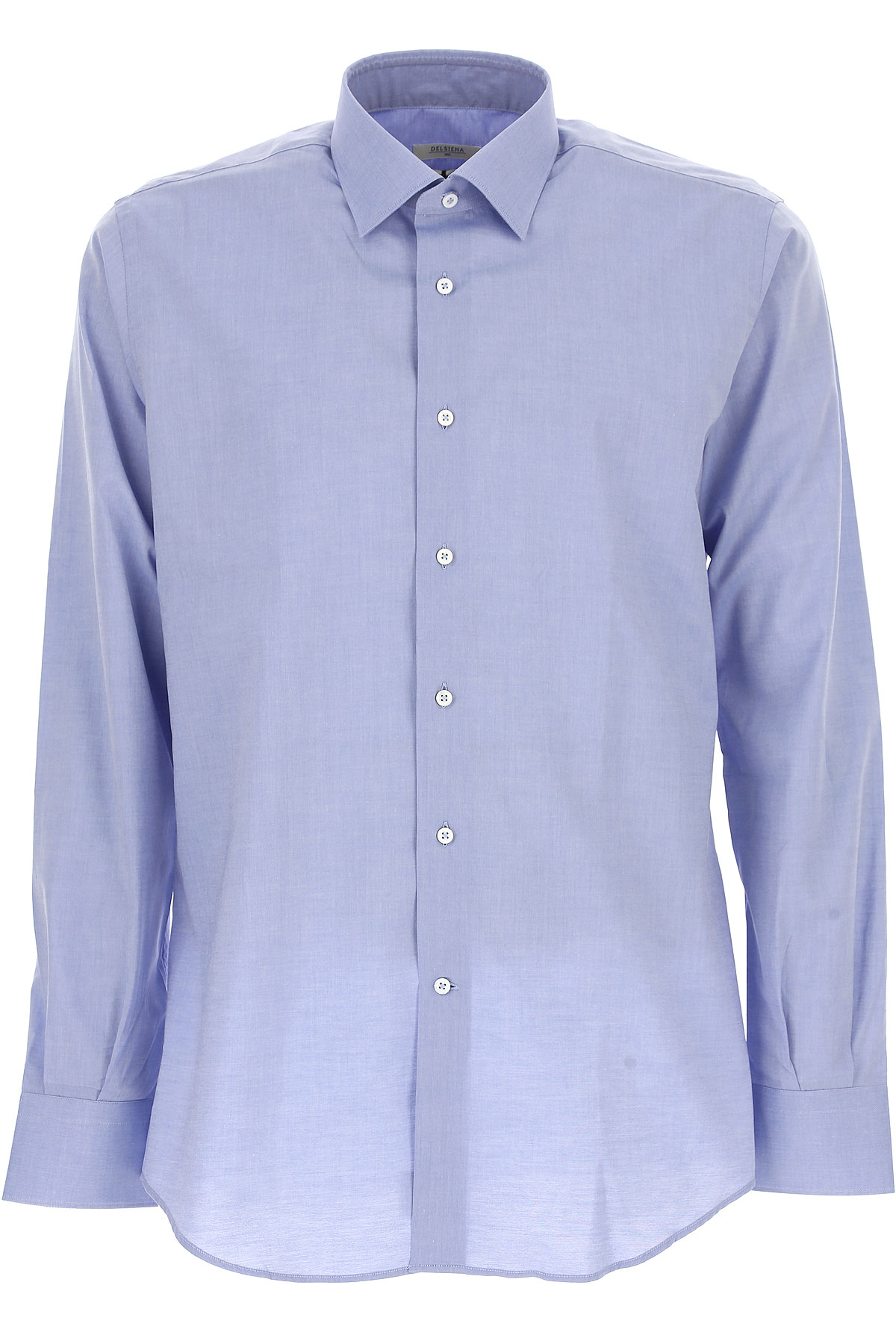 Image of Del Siena Shirt for Men On Sale, Azure, Cotton, 2017, 15 15.5 15.75 16 16.5 17 17.5