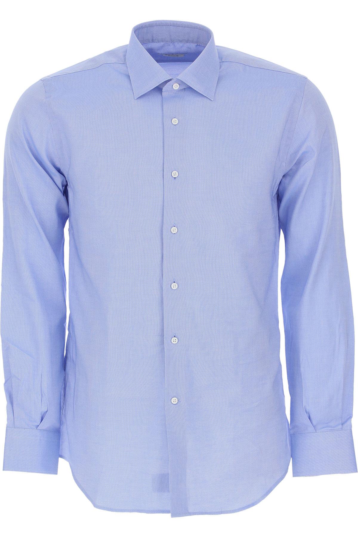 Del Siena Shirt for Men On Sale, Azure, Cotton, 2019, 15.5 15.75 17.5