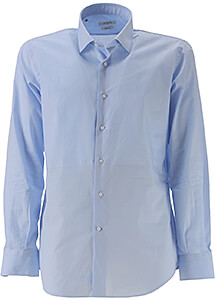 Image of Del Siena Shirt for Men On Sale, Azure, Cotton, 2017, 15.75 16 16.5 17 17.5 18