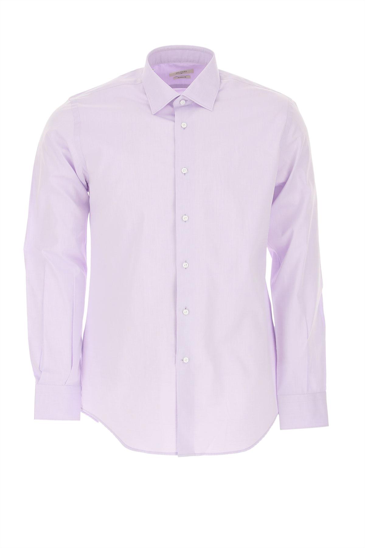 Del Siena Shirt for Men On Sale, Lilac, Cotton, 2019, 15 15.5 15.75 16 16.5 17 17.5