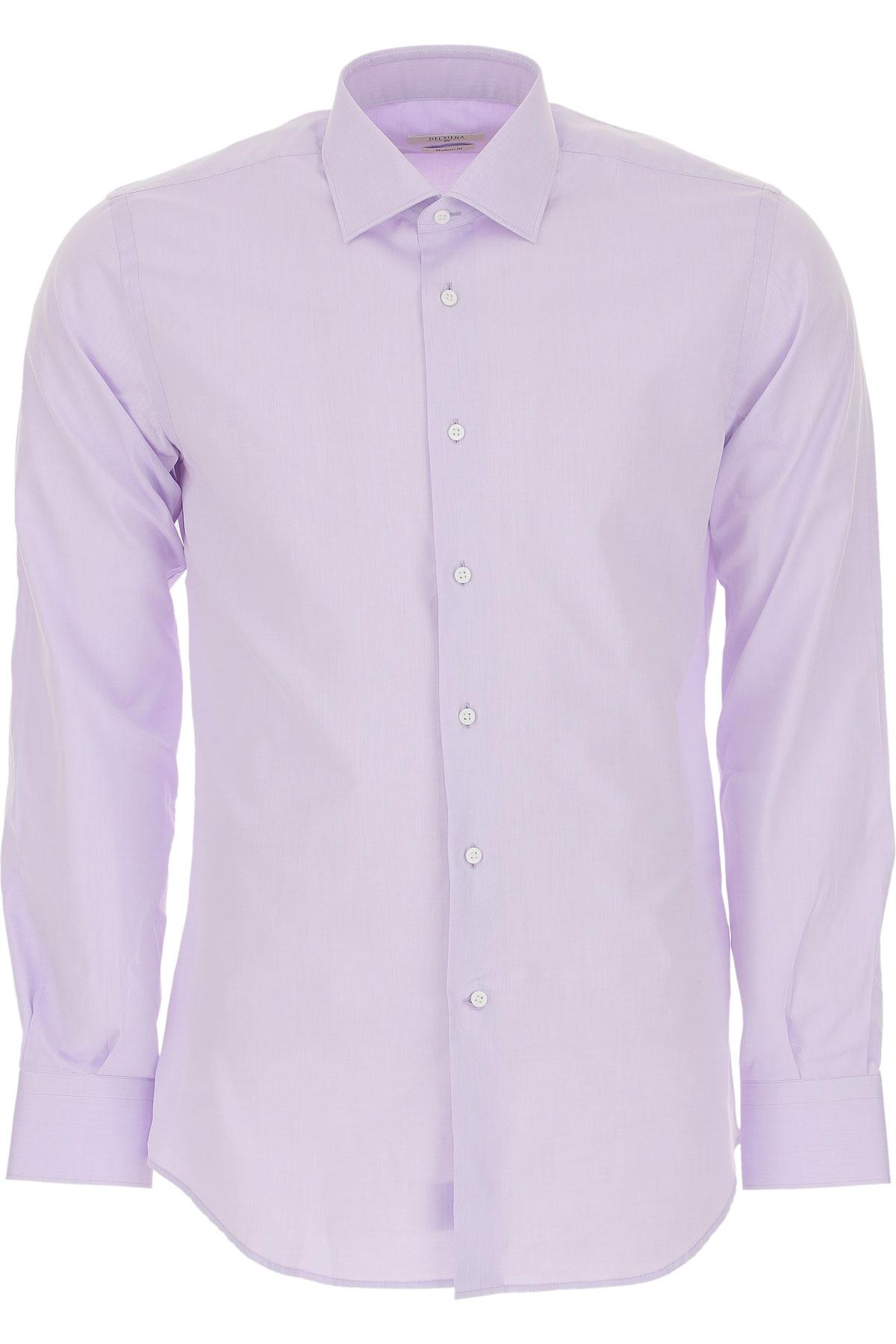 Del Siena Shirt for Men On Sale, Lilac, Cotton, 2019, 15.5 15.75 16 16.5