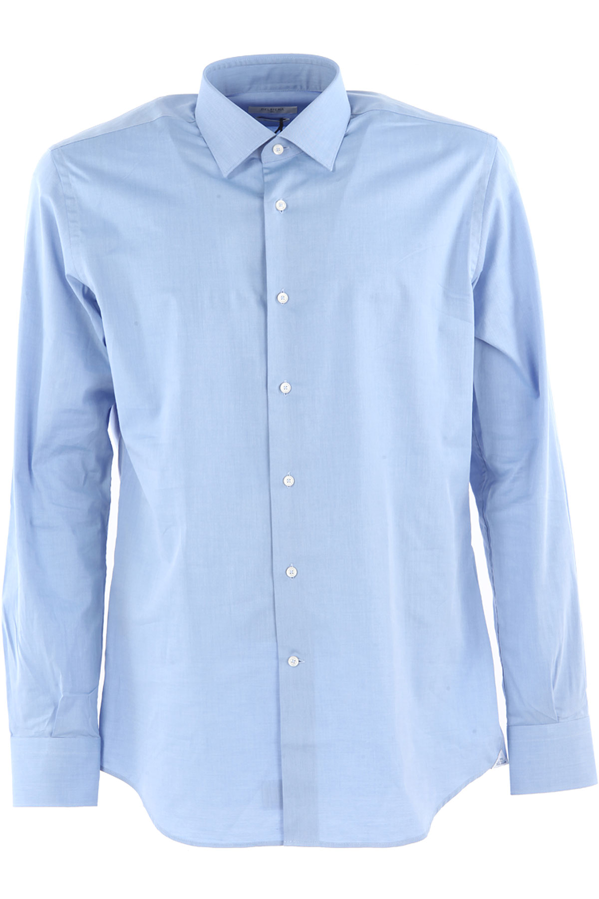 Image of Del Siena Shirt for Men On Sale, Azure, Cotton, 2017, 15.75 16