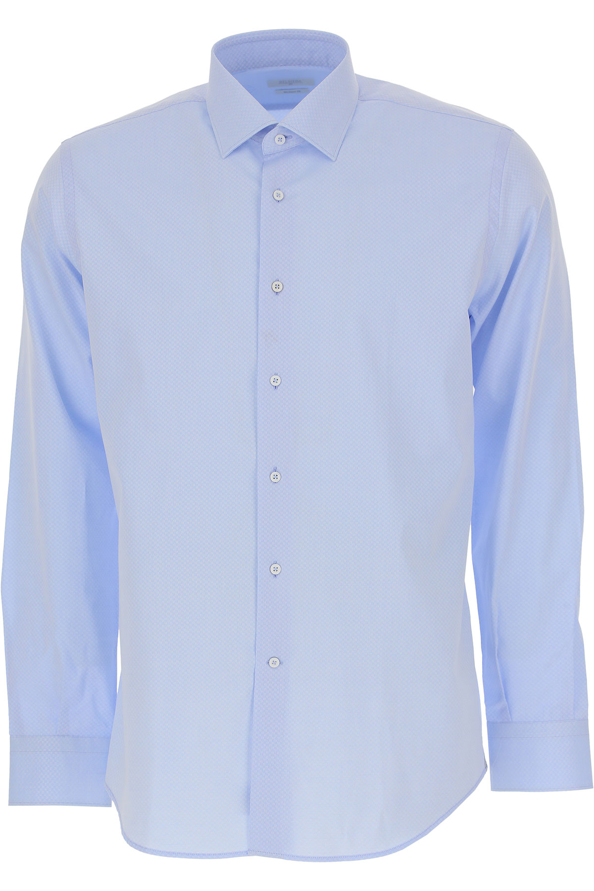 Image of Del Siena Shirt for Men, Azure, Cotton, 2017, 15.75 16 16.5