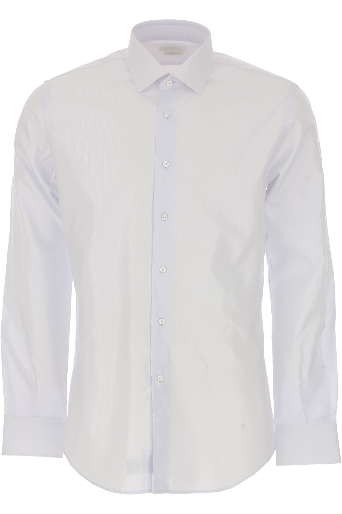 Image of Del Siena Shirt for Men, Azure, Cotton, 2017, 15.5 15.75 17 17.5