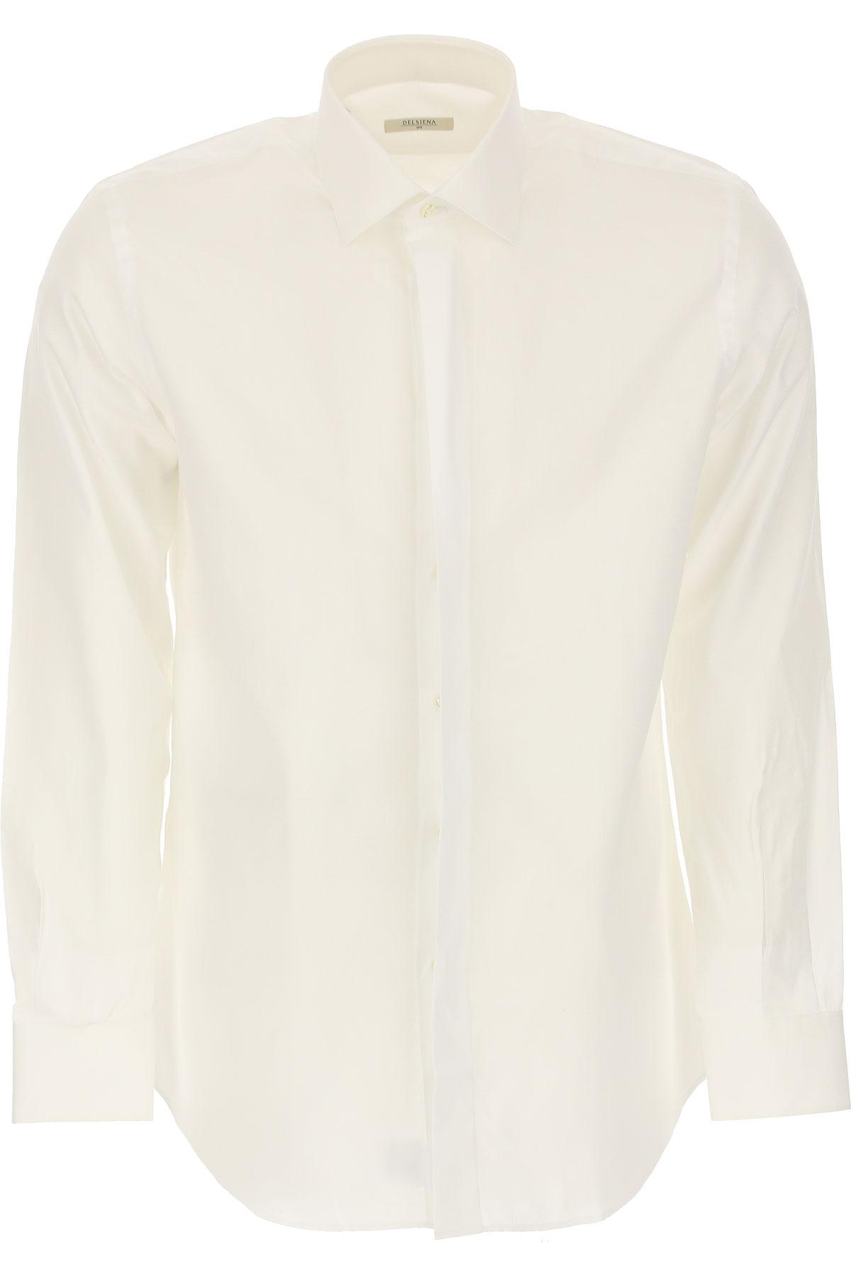 Del Siena Shirt for Men On Sale, White, Cotton, 2019, 15 15.5 15.75 16 16.5 17 17.5