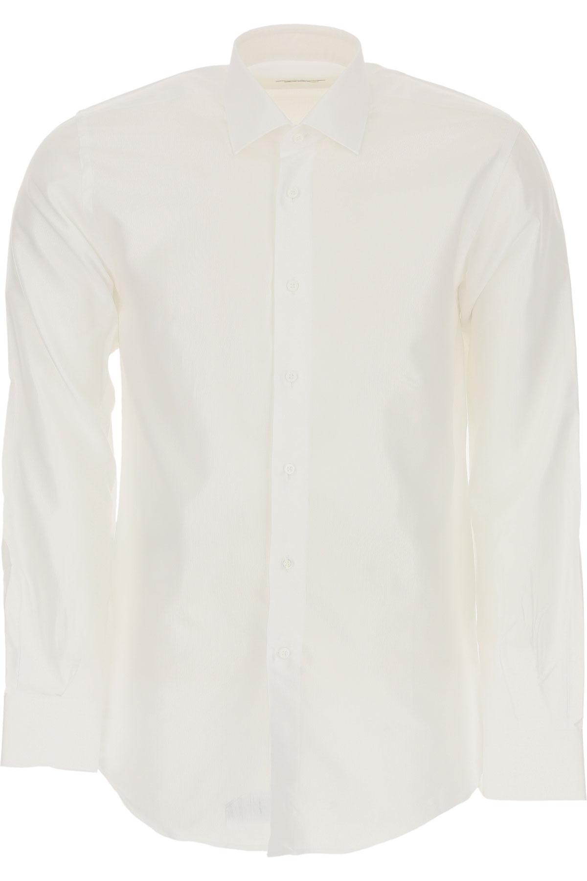 Del Siena Chemise Homme, Blanc, Coton, 2019, 40 41 43