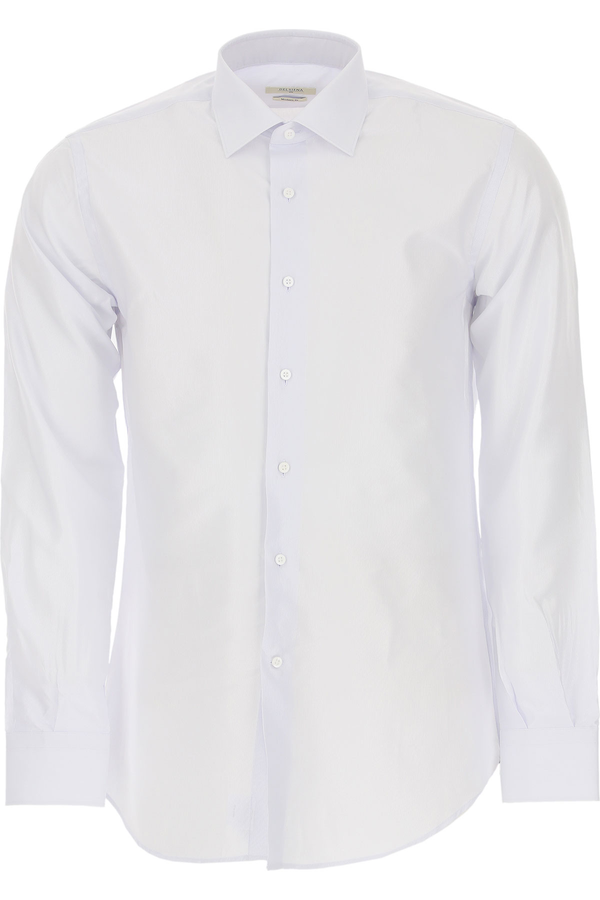 Del Siena Shirt for Men On Sale, Ice Grey, Cotton, 2019, 15.75 17.5