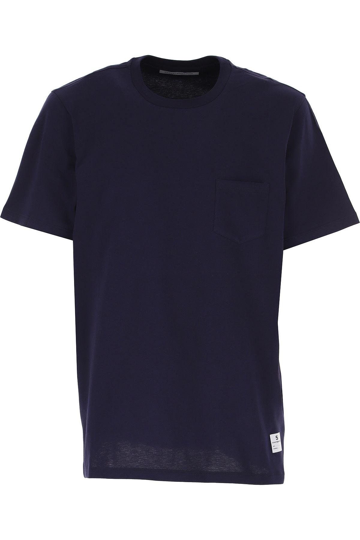 Department Five T-Shirt for Men On Sale, Midnight Blue, Cotton, 2019, L S