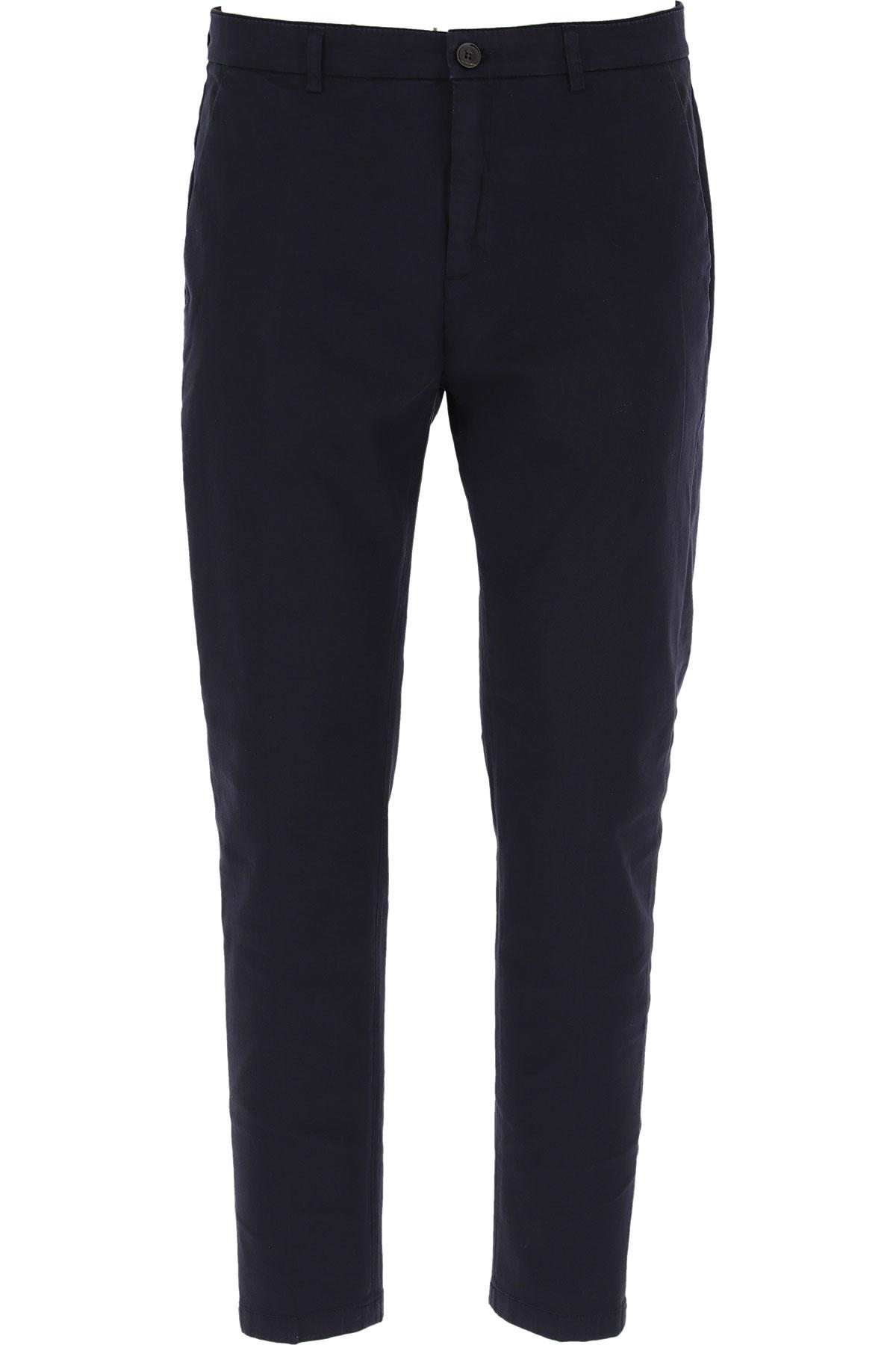 Department Five Pants for Men On Sale, navy, Cotton, 2019, 30 31 32 33 34 35 36