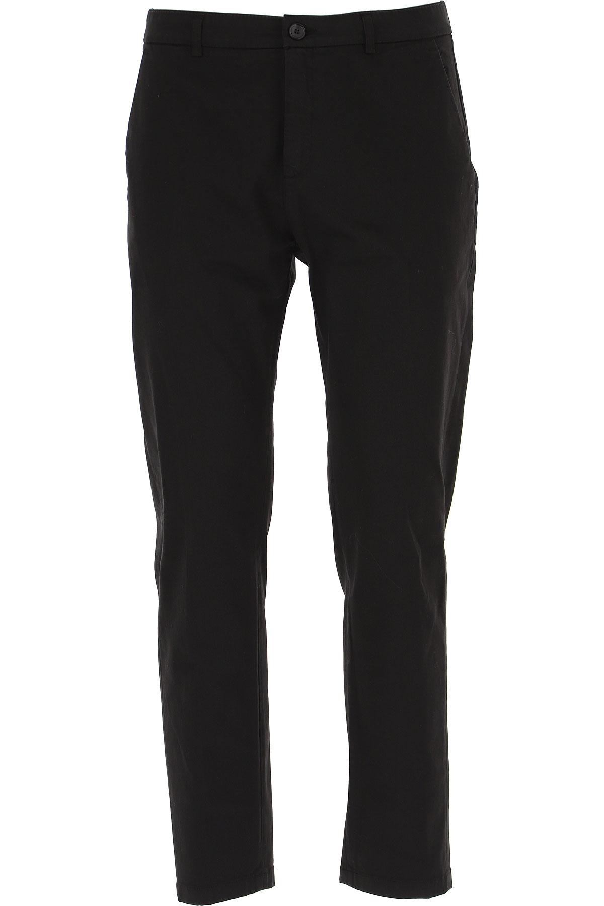 Department Five Pants for Men On Sale, Black, Cotton, 2019, 30 31 32 33 34 35