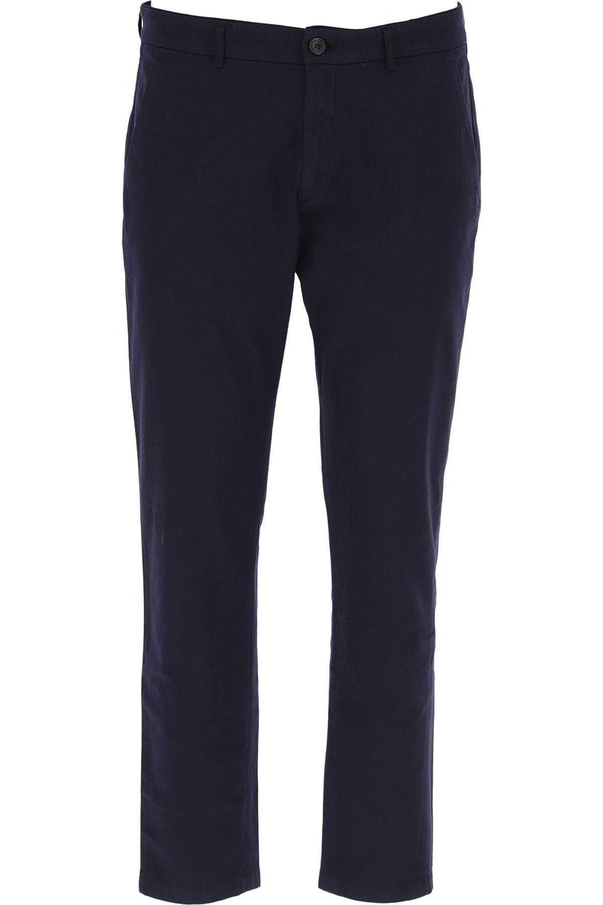 Department Five Pants for Men On Sale, navy, Cotton, 2019, 31 32 33 34 35 36