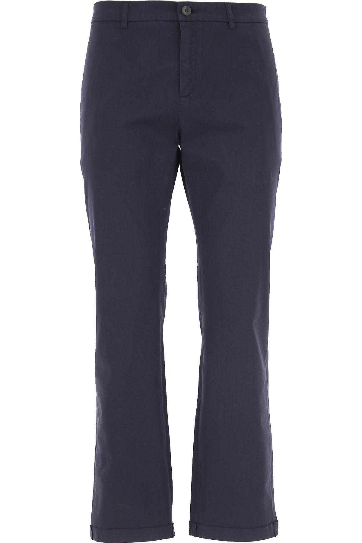 Department Five Pants for Men On Sale, Navy Blue, Cotton, 2019, 31 32 33 34 35 36