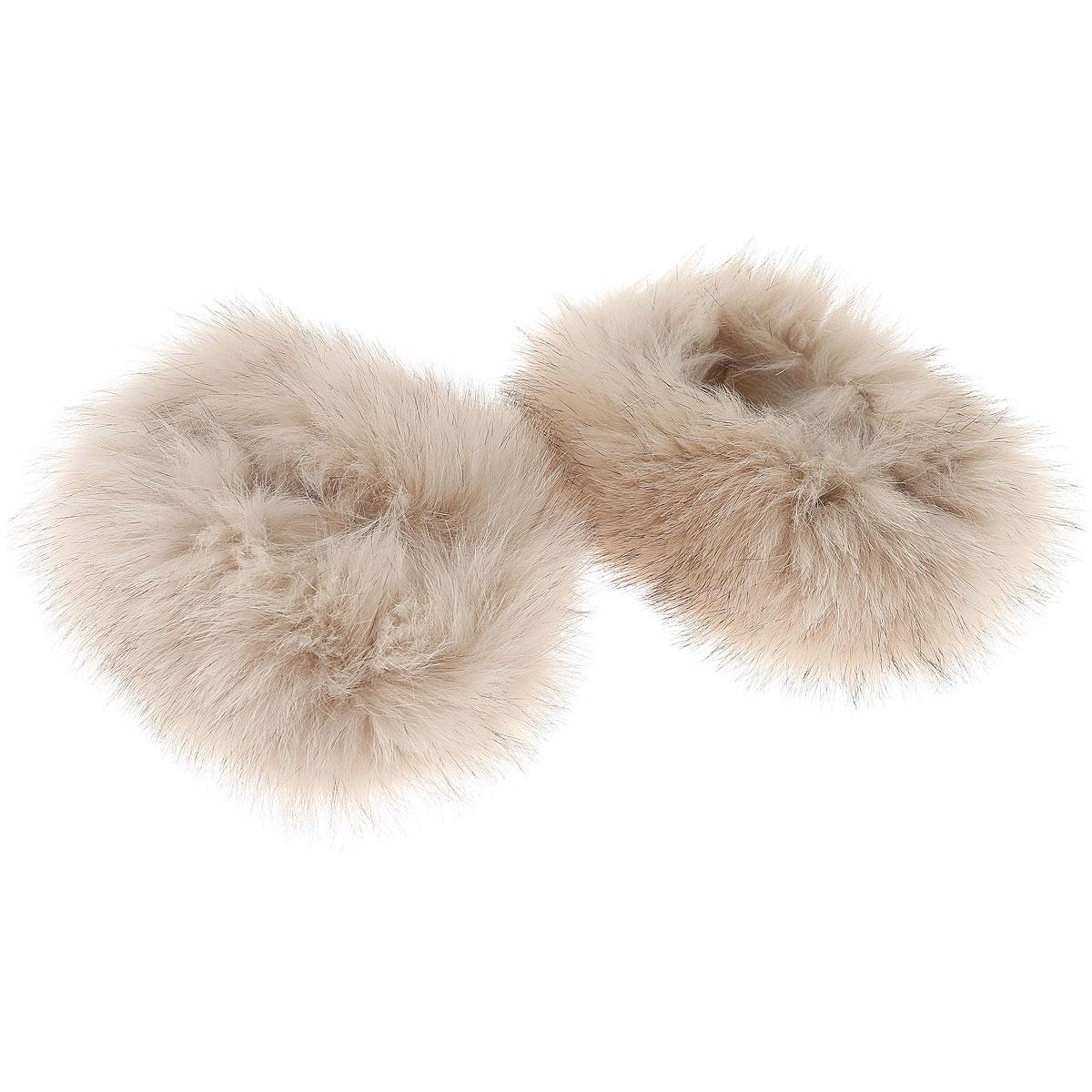 Image of D. Exterior Gloves for Women On Sale in Outlet, Beige, Fur, 2017, I II III