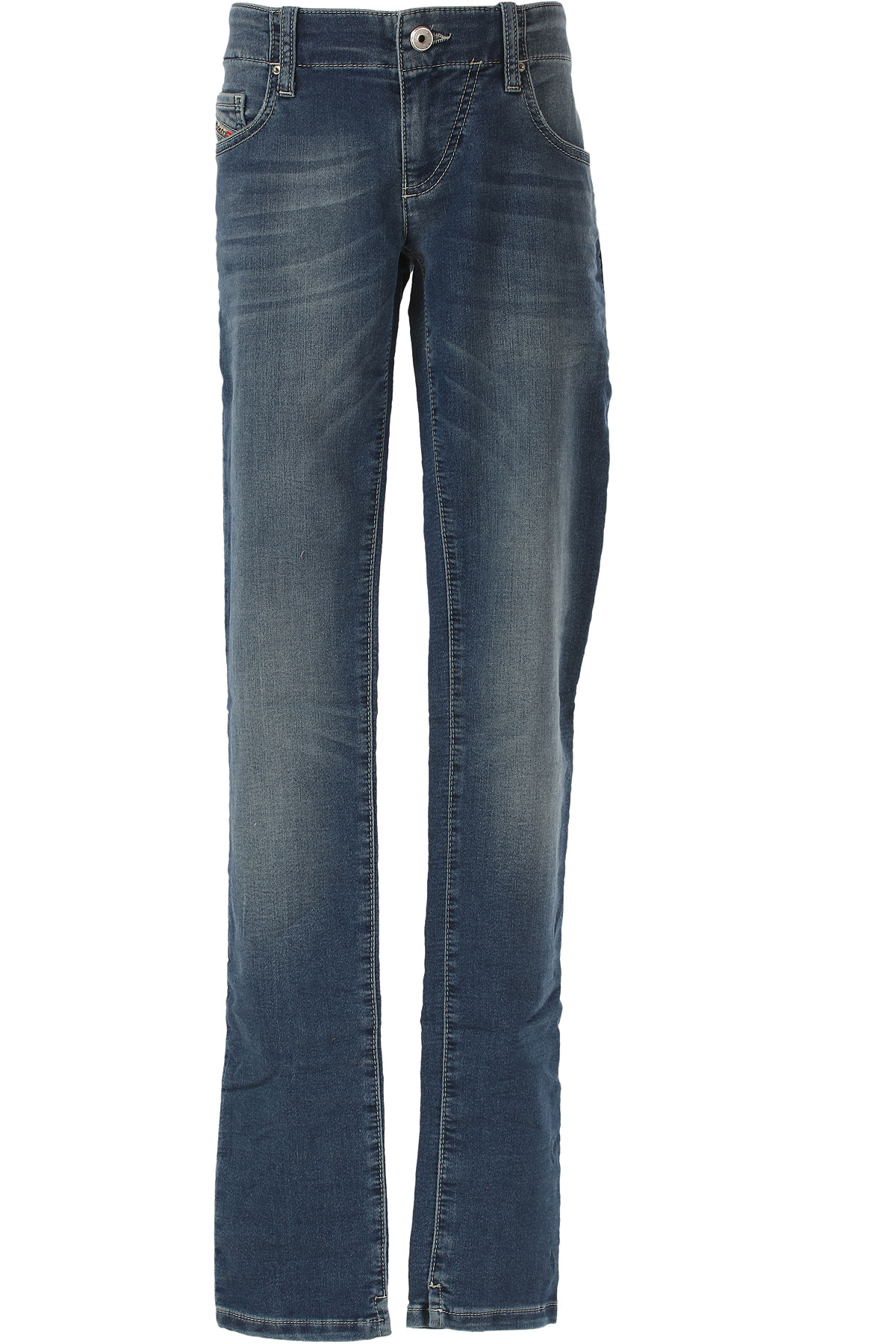 Image of Diesel Kids Jeans for Girls On Sale in Outlet, Blue, Cotton, 2017, 14Y 16Y