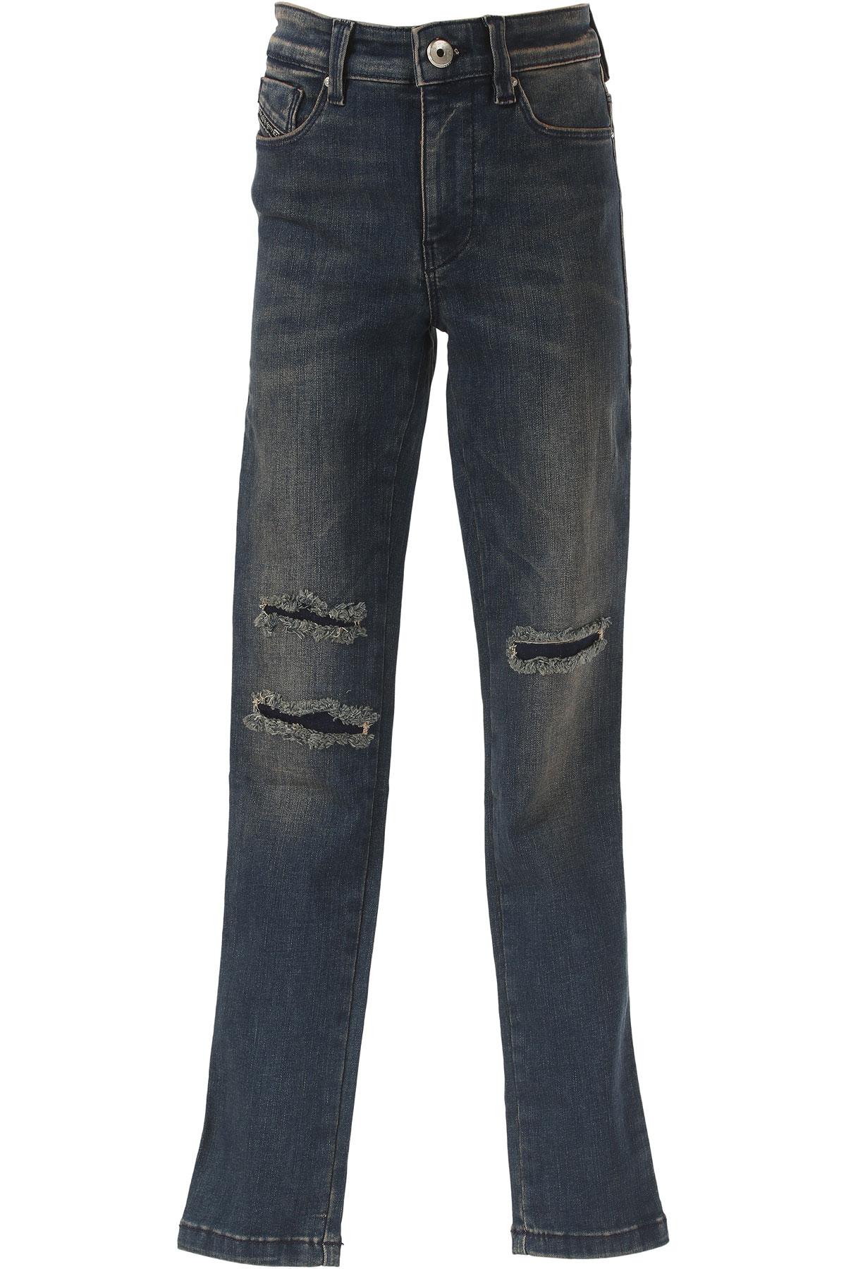 Diesel Kids Jeans for Girls On Sale in Outlet, Denim, Cotton, 2017, 16Y 4Y 8Y