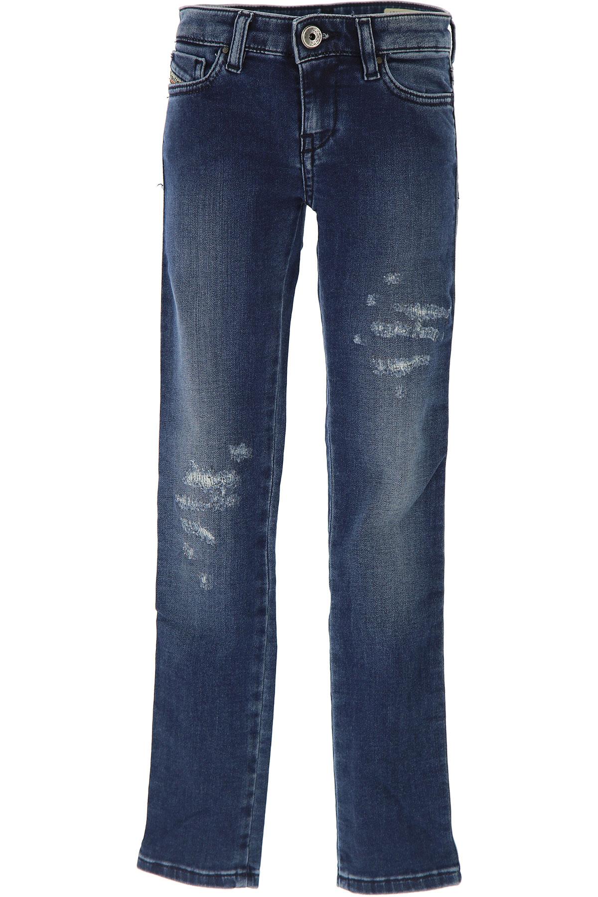 Image of Diesel Kids Jeans for Girls On Sale in Outlet, Blue Denim, Cotton, 2017, 10Y 14Y 8Y