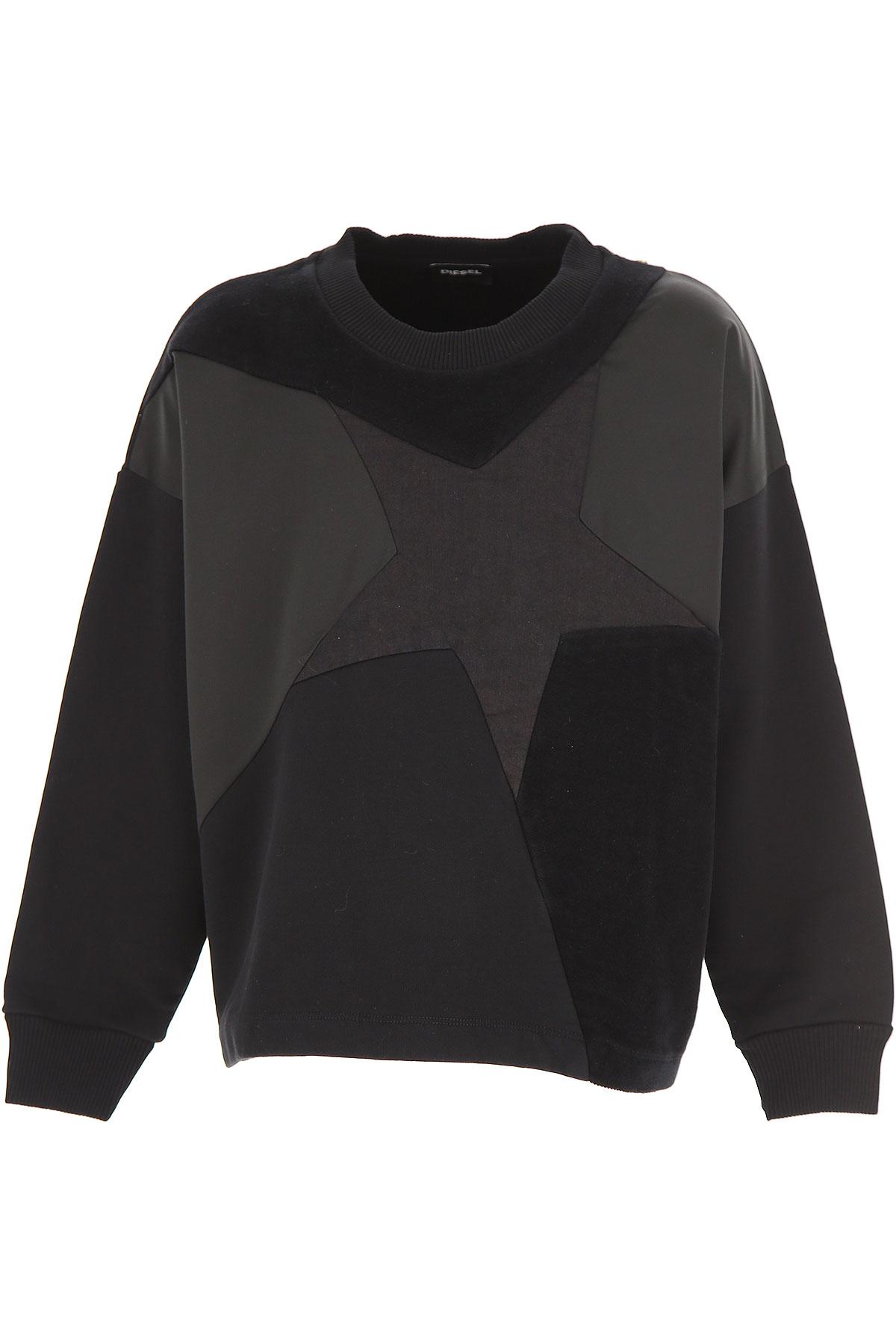 Image of Diesel Kids Sweatshirts & Hoodies for Girls, Black, Cotton, 2017, 10Y 14Y 16Y 8Y