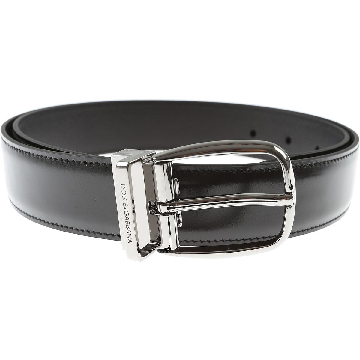 Dolce & Gabbana Mens Belts, Black, Leather, 2017, 40 42 44 46
