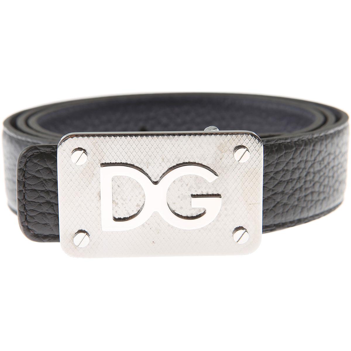 Dolce & Gabbana Mens Belts On Sale, Reversibile, Black, Leather, 2017, 42 44