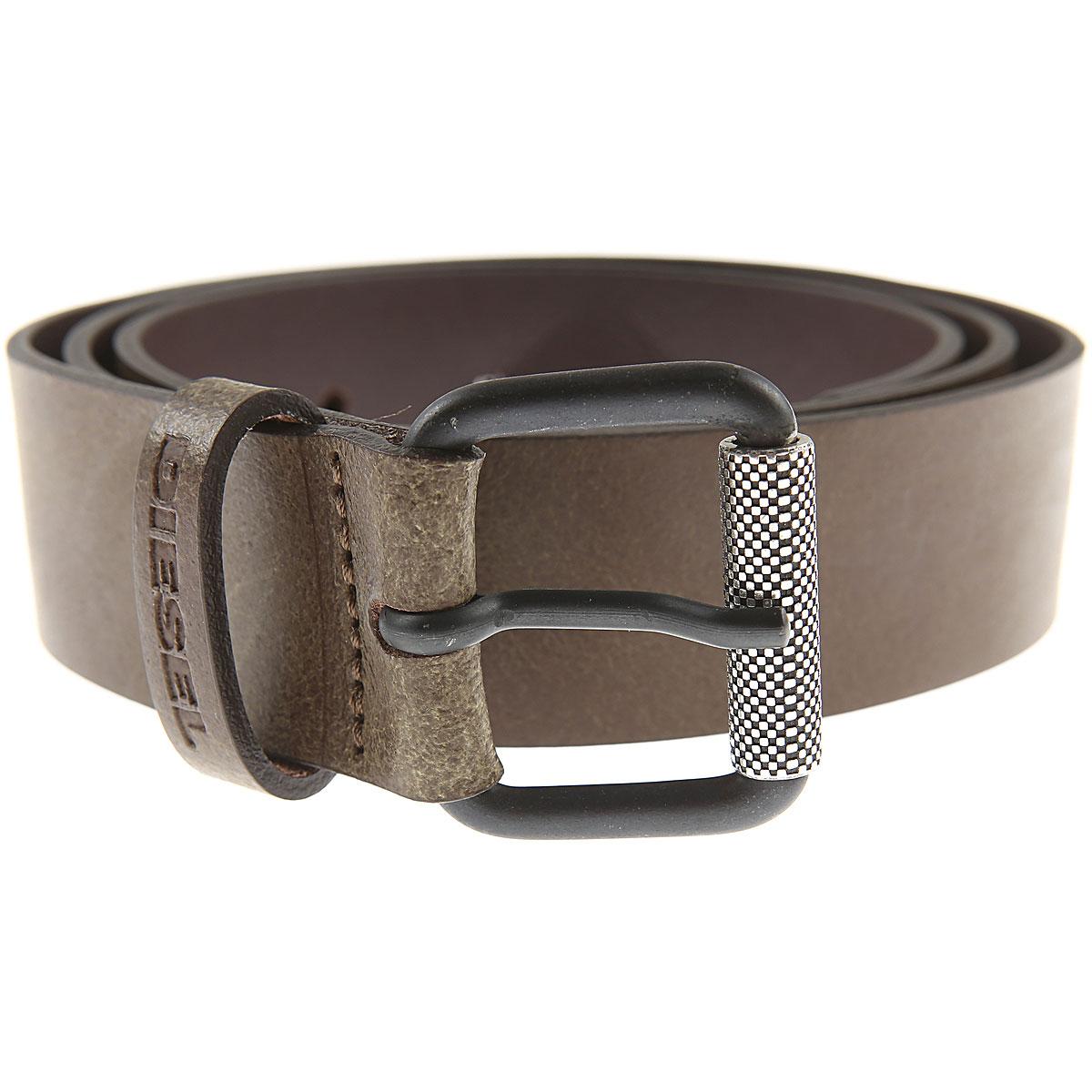 Diesel Mens Belts On Sale, Brown, Cow Leather, 2019, 36 38 42