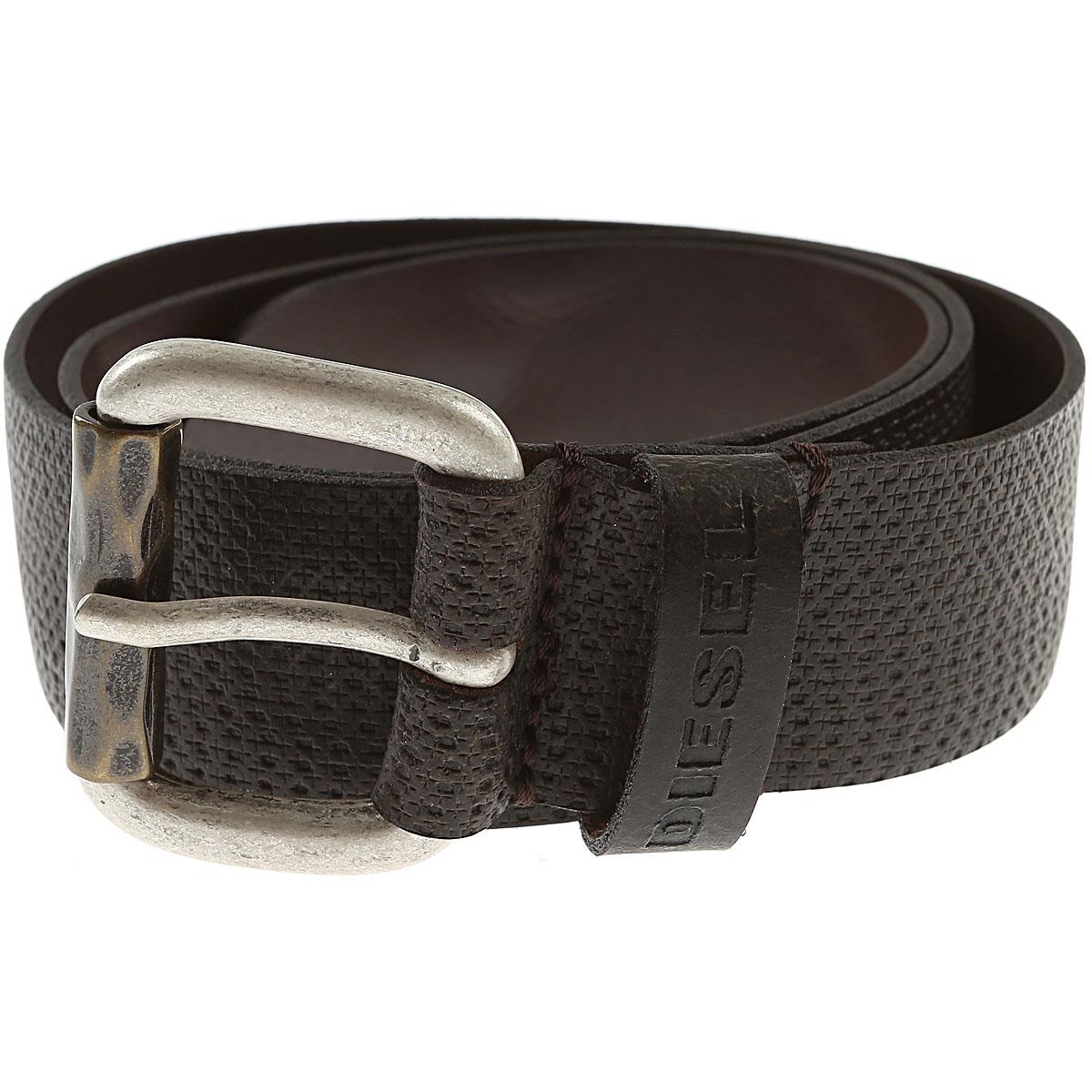 Diesel Mens Belts On Sale, Dark Brown, Cow Leather, 2019, 100 95