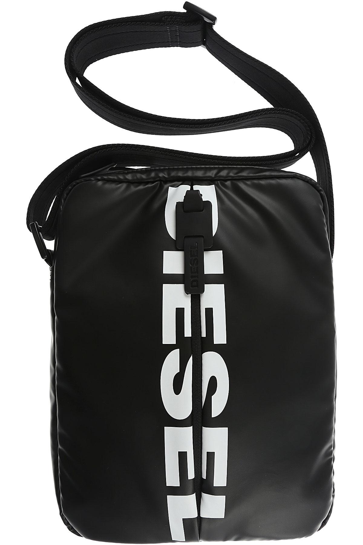 Image of Diesel Messenger Bag for Men, Black, polyurethane, 2017