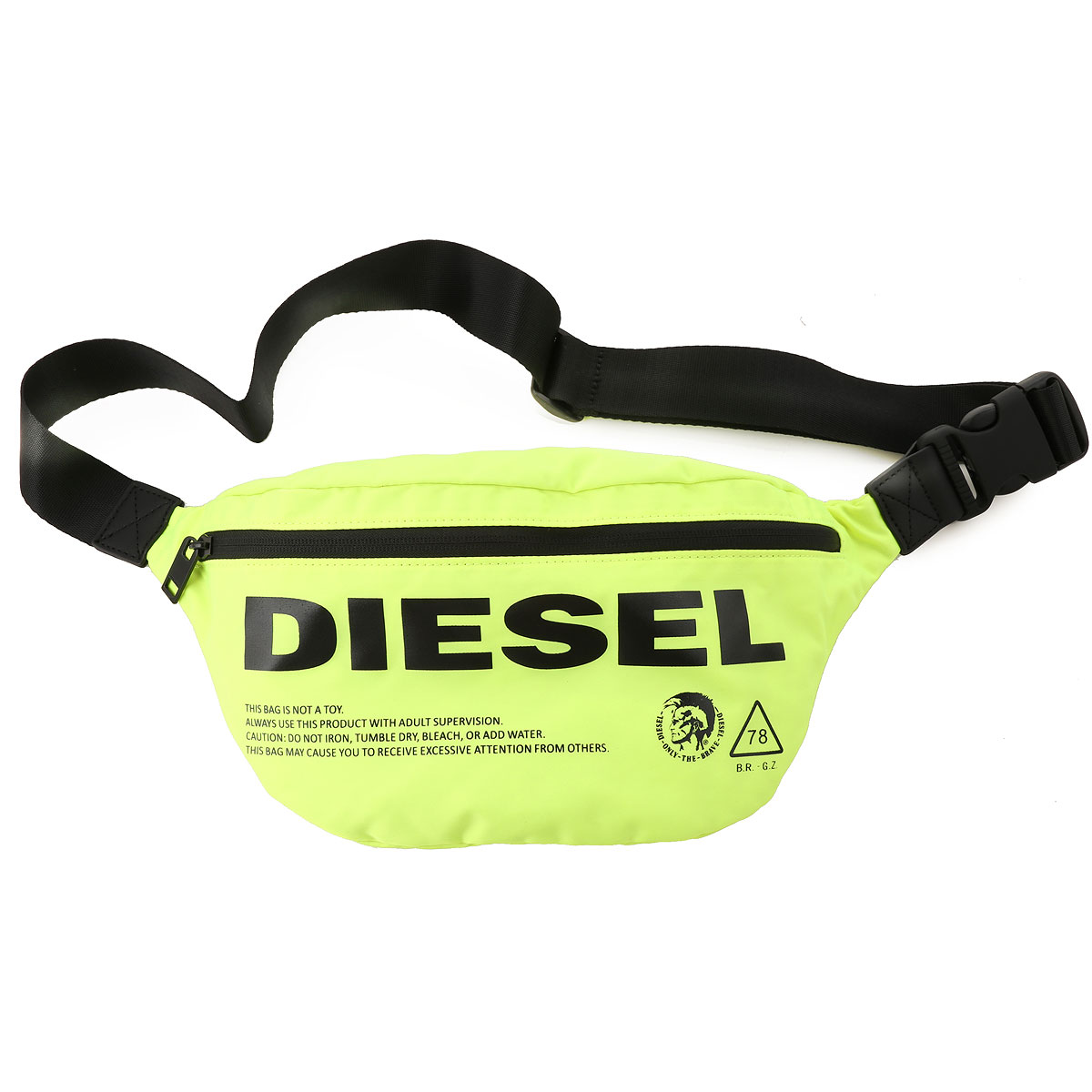 Diesel Weekender Duffel Bag for Men, Acid Yellow Fluo, polyamide, 2019