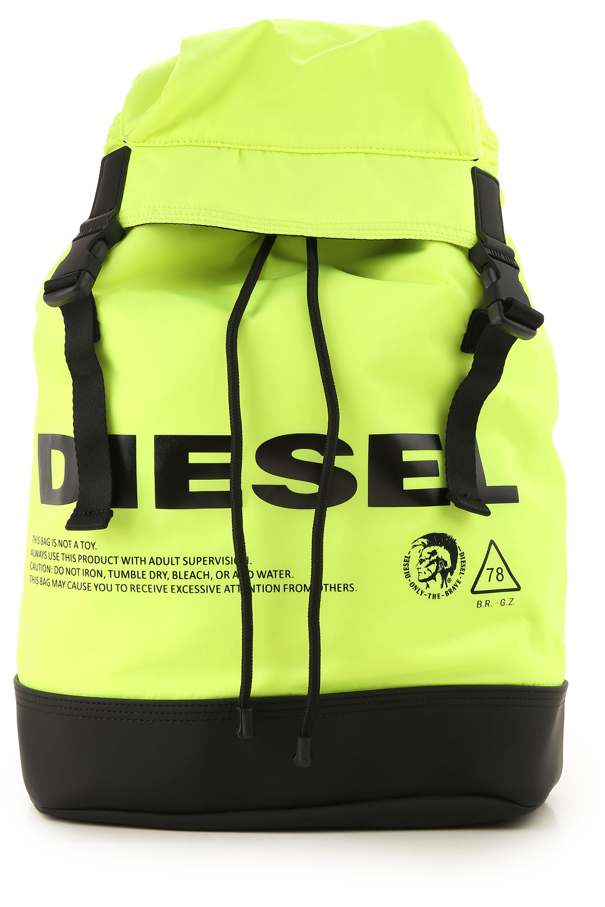 Diesel Backpack for Men, Acid Yellow Fluo, polyamide, 2019