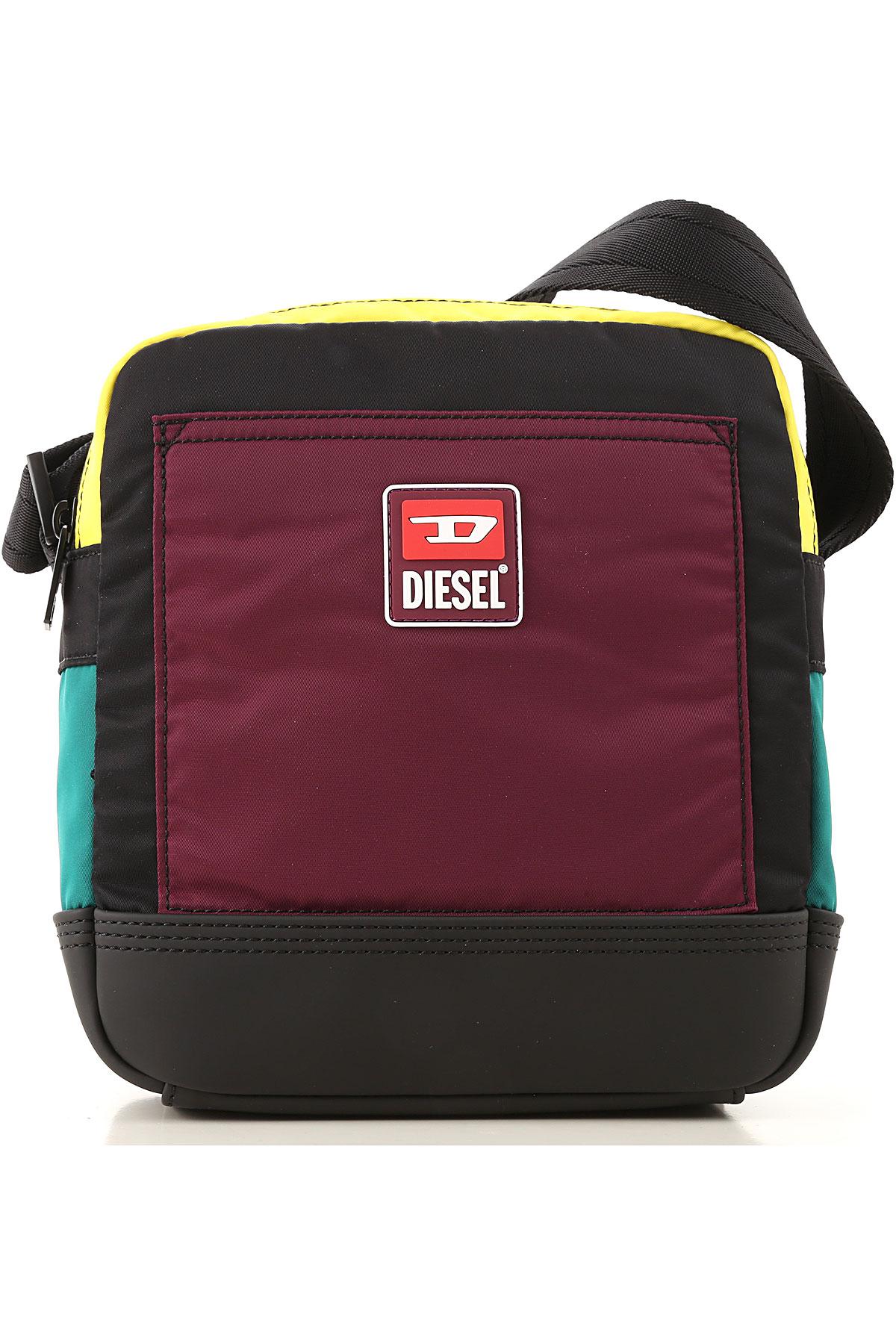 Diesel Messenger Bag for Men On Sale, Black, polyamide, 2019