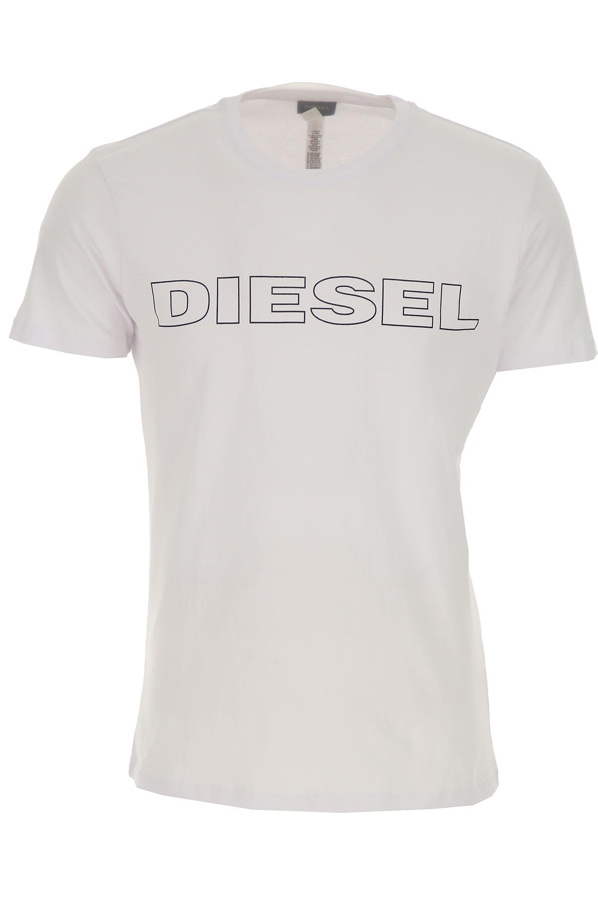 Diesel Мужская майка В продаже со скидкой, Белый, Хлопок, 2019, L S