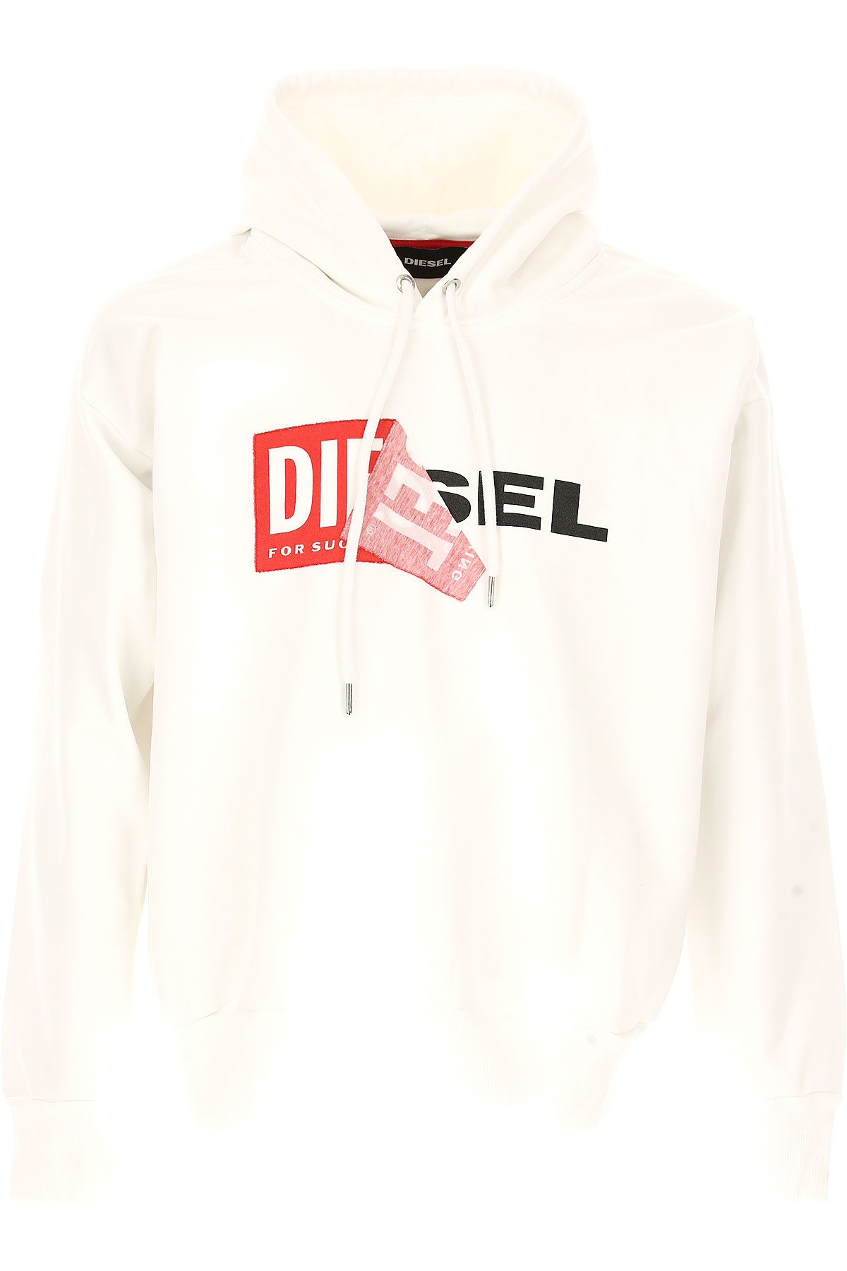 Diesel Sweatshirt for Men On Sale, White, Cotton, 2017, L M S XL USA-440093