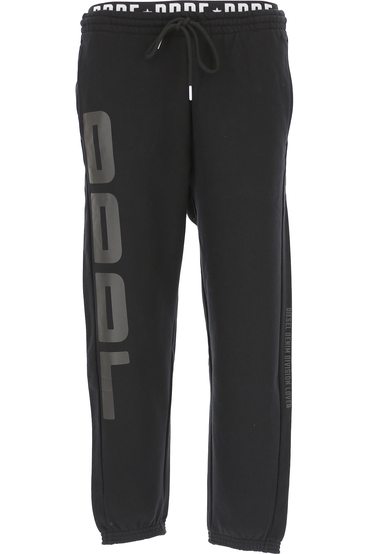 Diesel Men's Sportswear for Gym Workouts and Running, Black, Cotton, 2019, L S XL