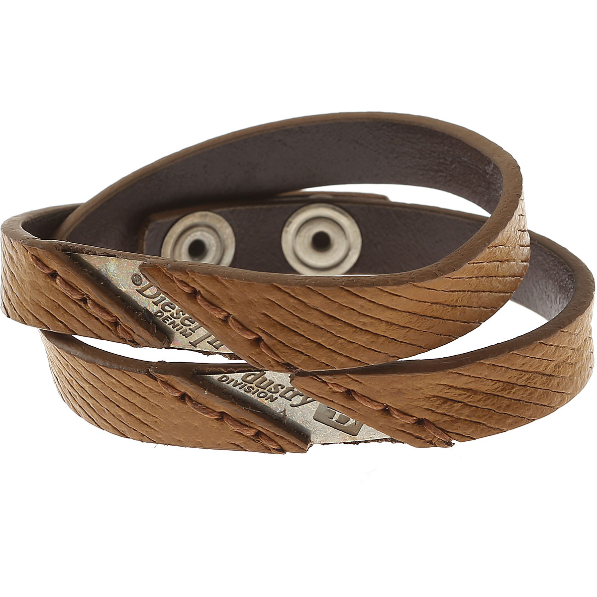 Diesel Bracelet for Men On Sale in Outlet, Line Roar, Light Brown, Cow Leather, 2019