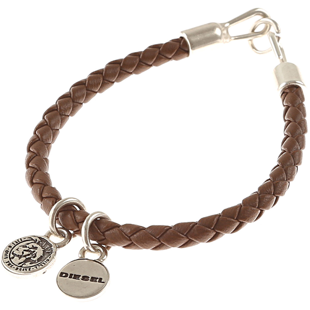 Diesel Bracelet for Men On Sale in Outlet, Brown, polyurethane, 2019