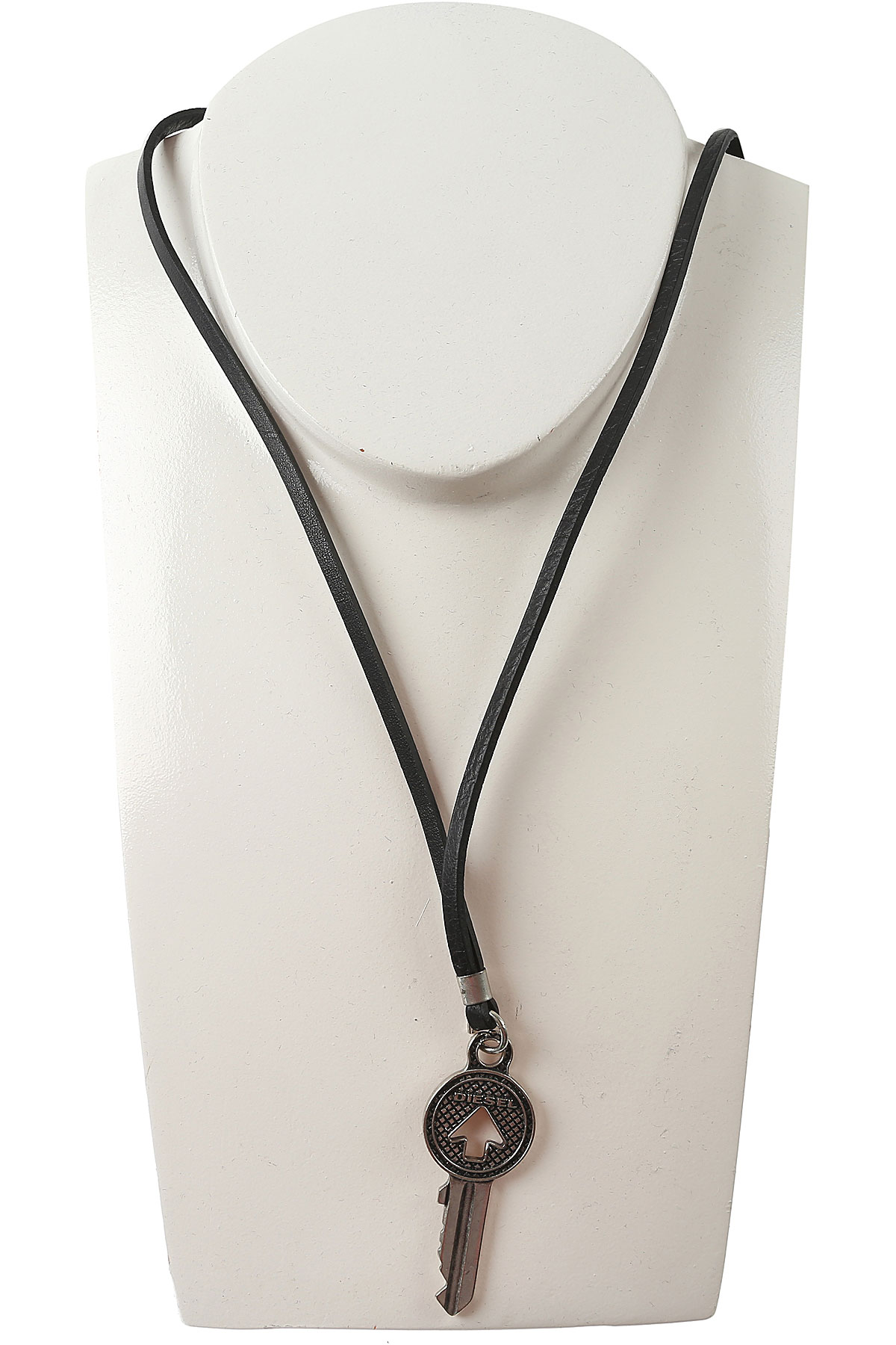 Image of Diesel Necklaces On Sale in Outlet, Openthedoor, Black, Zamack, 2017