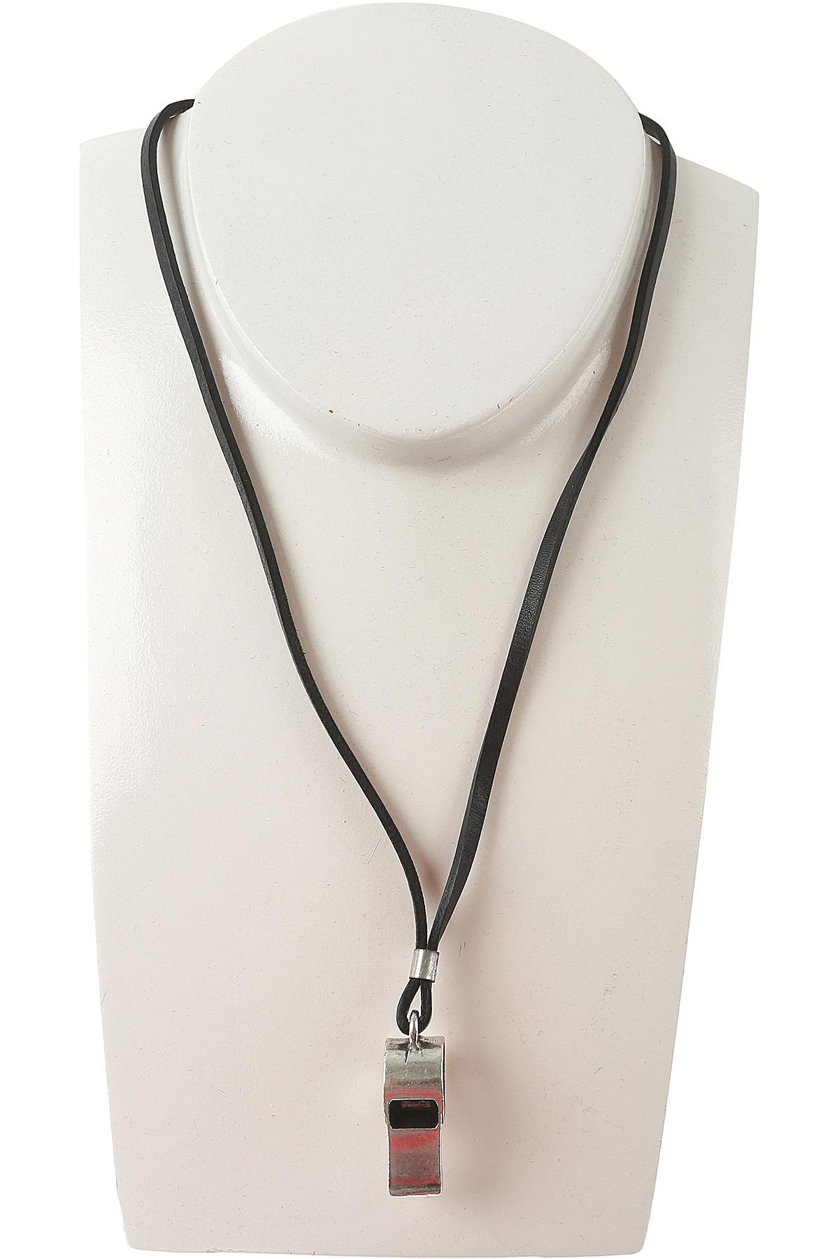 Image of Diesel Necklaces On Sale in Outlet, Stopp, Black, Zamack, 2017