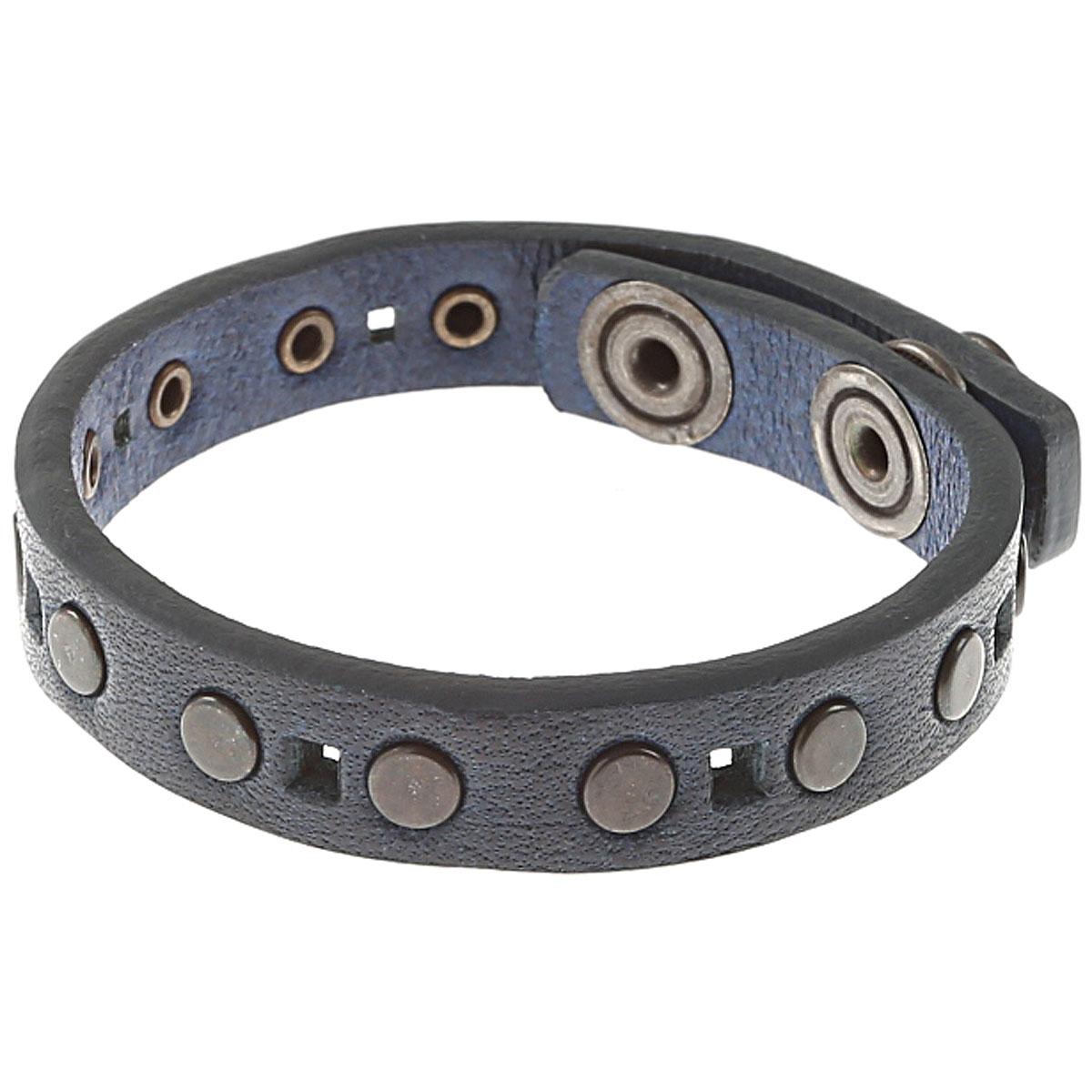 Image of Diesel Bracelet for Men On Sale, Blue, Cow Leather, 2017