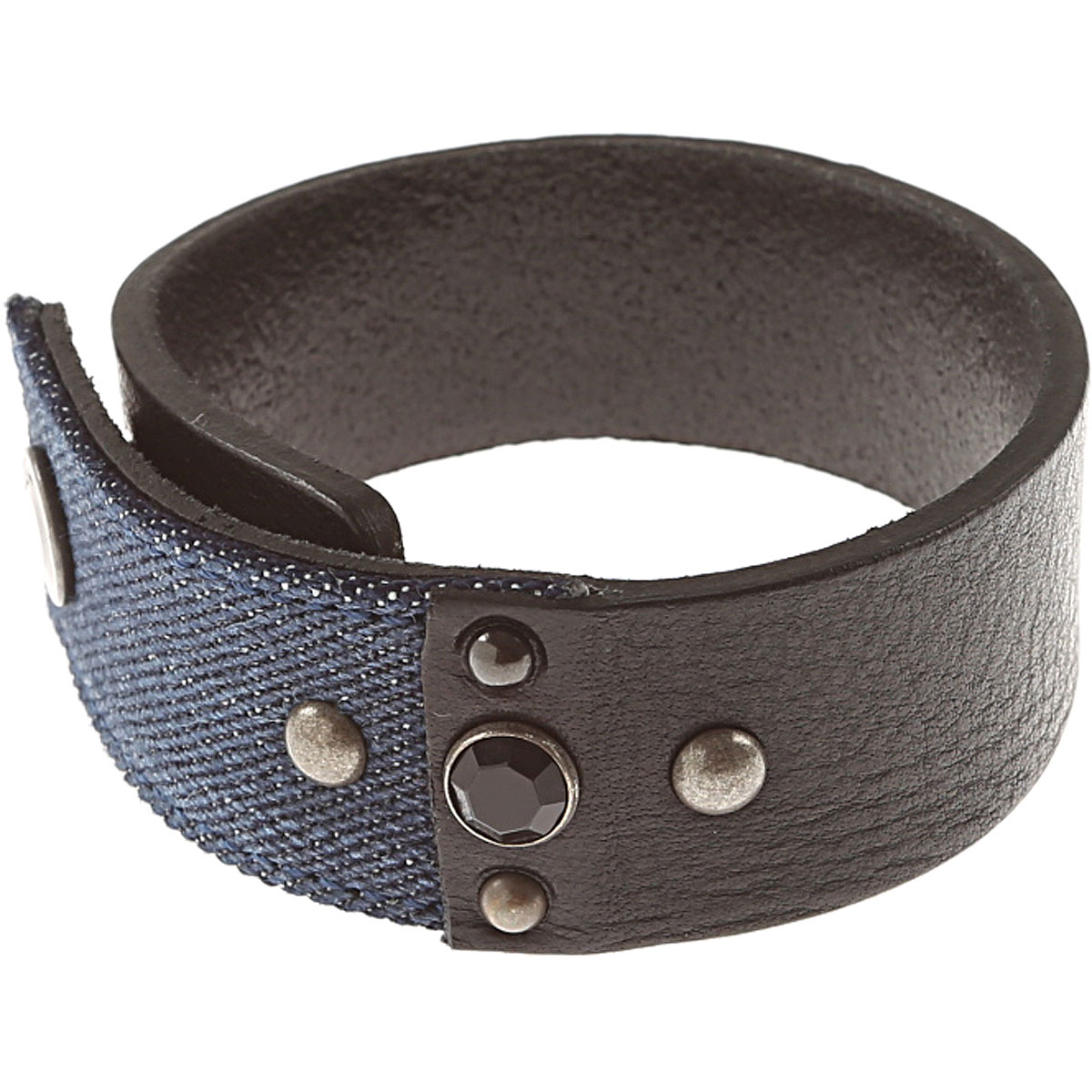Diesel Bracelet for Men On Sale in Outlet, Black, Cow Leather, 2019