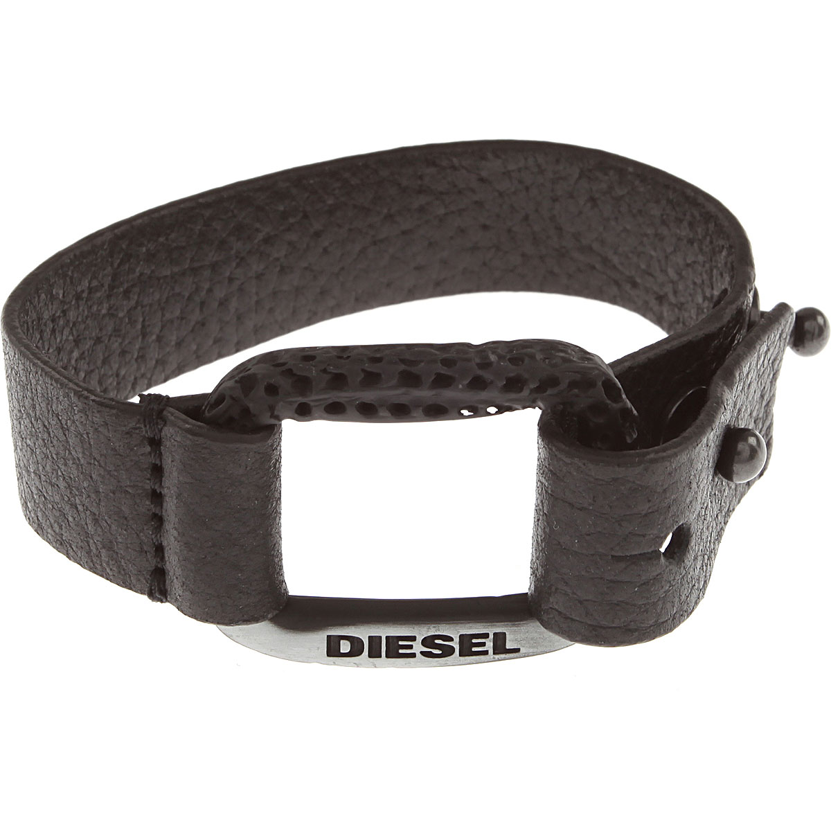 Diesel Bracelet for Men On Sale in Outlet, Black, Leather, 2019