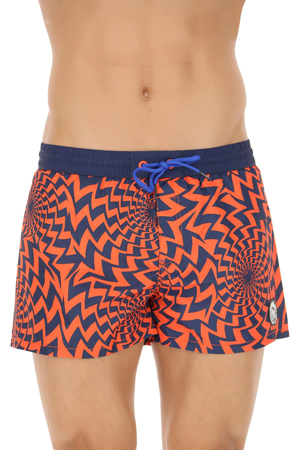 Image of Diesel Swim Shorts Trunks for Men, Blue, polyester, 2017, S L XL