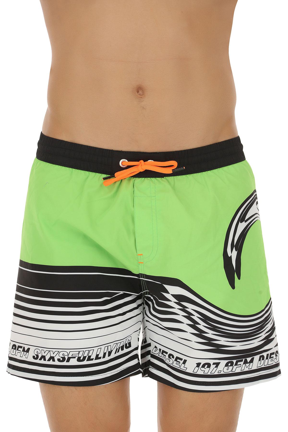 Image of Diesel Swim Shorts Trunks for Men, Absinthe Green, polyester, 2017, S M L XL