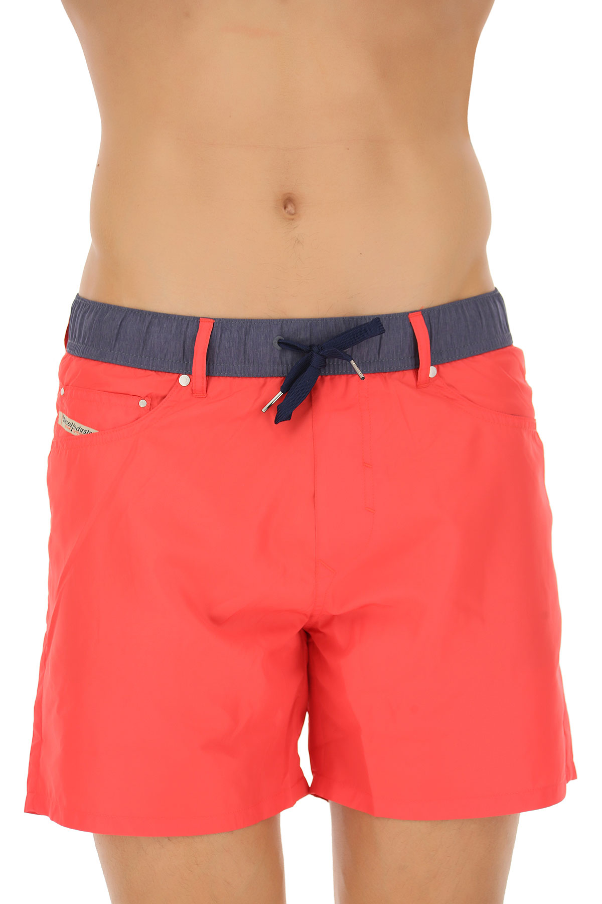 Image of Diesel Swim Shorts Trunks for Men, Coral, polyester, 2017, L XL