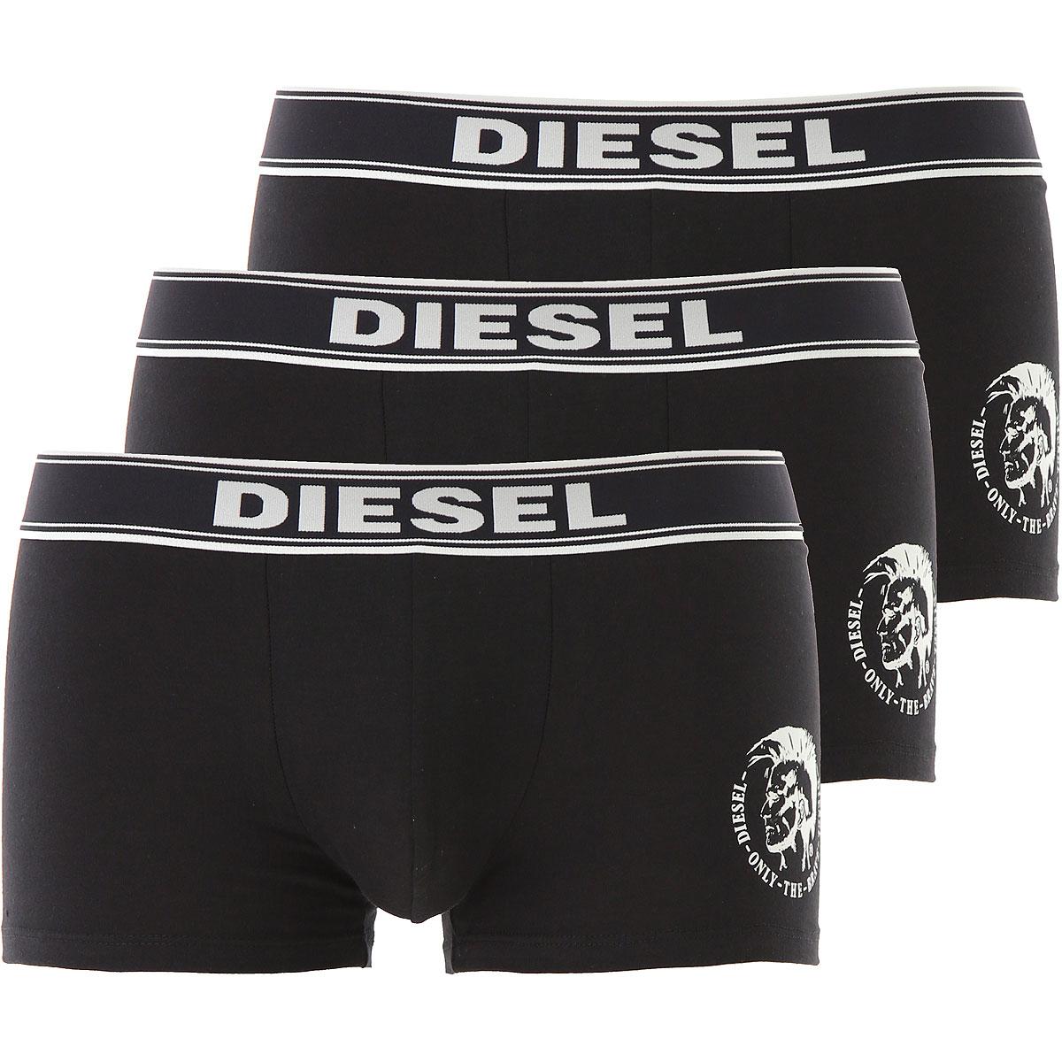 Image of Diesel Boxer Briefs for Men, Boxers, 3 Pack, Black, Cotton, 2017, M (EU 4) S (EU 3) L (EU 5) XL (EU 6) XXL (EU 7)