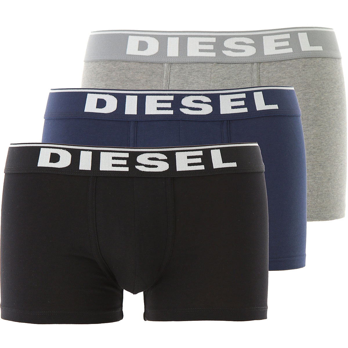 Image of Diesel Boxer Briefs for Men, Boxers, 3 Pack, Black, Cotton, 2017, M (EU 4) S (EU 3) L (EU 5) XL (EU 6)