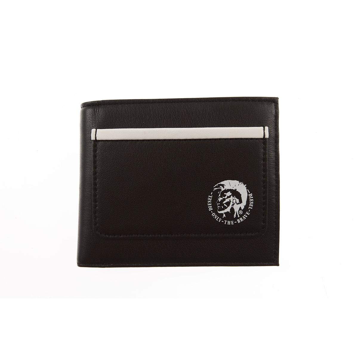 Nouveau Diesel Porte-monnaie Homme Pas cher en Soldes, Noir, Cuir, 2017 63f397a144d
