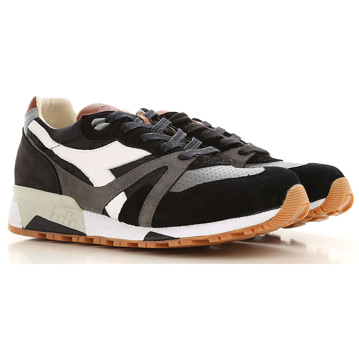 Diadora Sneakers for Men On Sale, Black, Leather, 2019, 7 8 9