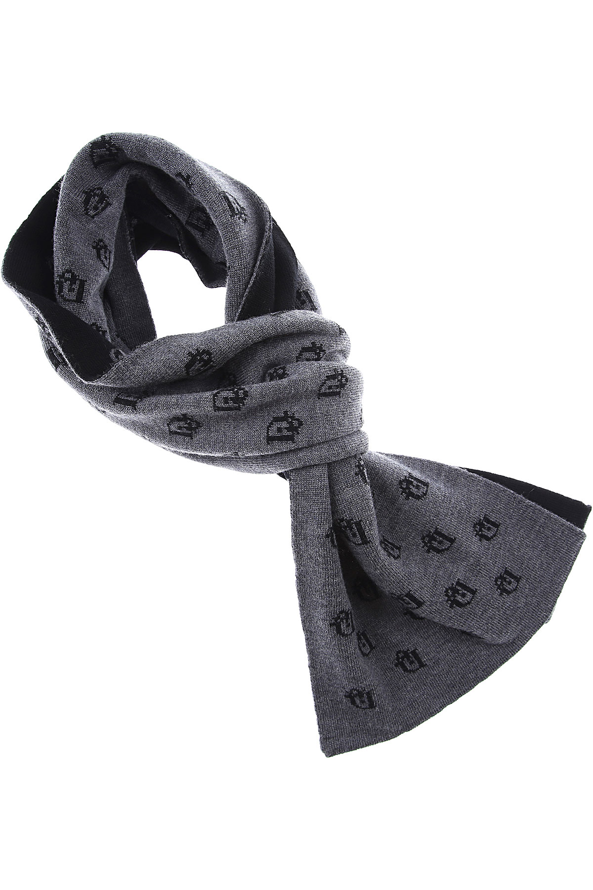 Baby Dior Kids Scarves for Boys On Sale, Grey, Wool, 2019