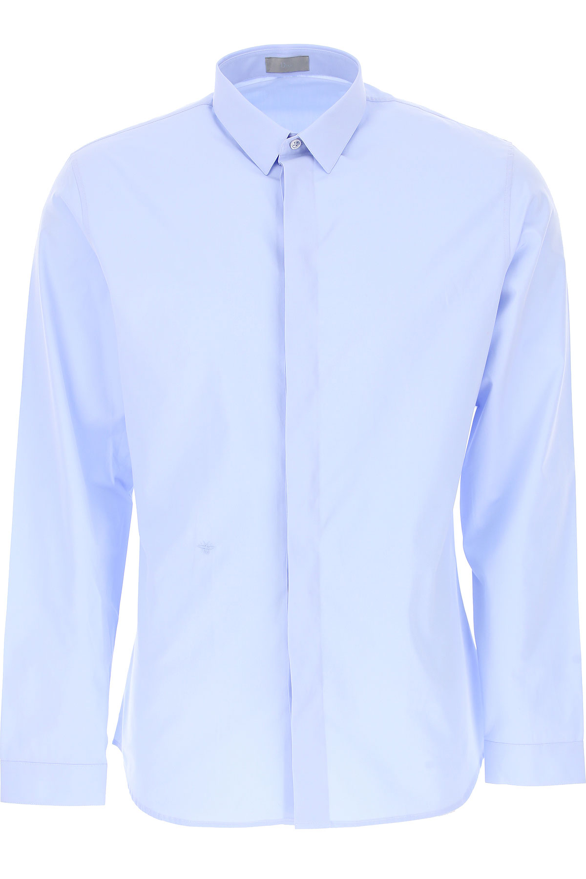 Christian Dior Chemise Homme, Bleu, Coton, 2017, 39 40 41 42